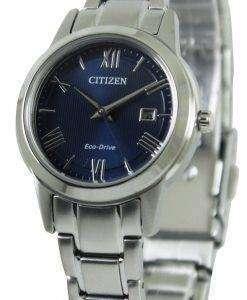 시민 에코 드라이브 블루 다이얼 FE1081-59 L 여성 시계