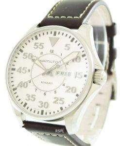 해밀턴 카 키 파일럿 쿼 츠 H64611555 남자 시계