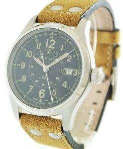 해밀턴 카 키 필드 자동 H70595593 남성용 시계