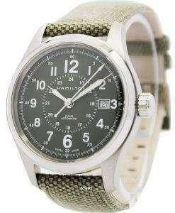 해밀턴 카 키 필드 자동 H70595963 남자의 시계