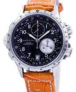 해밀턴 카 키 토 크로 노 그래프 H77612933 남자의 시계