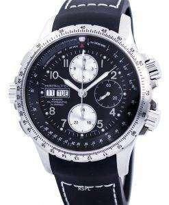 해밀턴 카 키 X 바람 자동 크로 노 그래프 H77616333 남자 시계