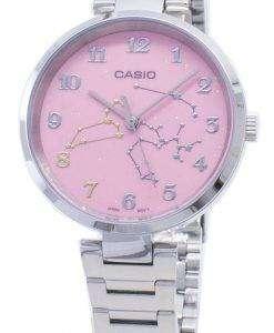 카시오 쿼츠 LTP - E02D - 4A 아날로그 여성용 시계 LTPE02D - 4A