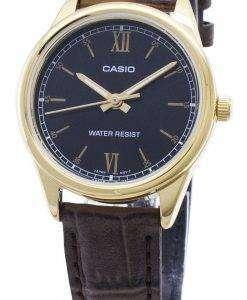 카시오 쿼츠 LTP - V005GL - 1B2 LTPV005GL - 1B2 아날로그 여성 손목 시계