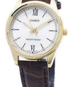 카시오 쿼츠 LTP - V005GL - 9B LTPV005GL - 9B 아날로그 여성 손목 시계