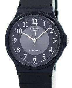 카시오 클래식 아날로그 석 영 검은 수 지 MQ-24-1B3LDF MQ-24-1B3L 남자 시계