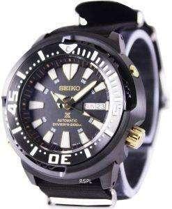 """세이 코 Prospex """"아기 참치"""" 자동 다이 버의 SRP641K1 NATO4 남자의 시계"""