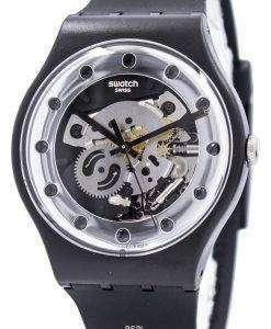 견본 원본 실버 글 램 스위스 쿼 츠 SUOZ147 Unisex 시계