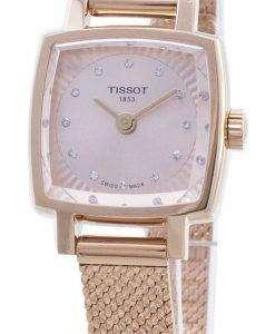 Tissot T - Lady Lovely Square T058.109.33.456.00 다이아몬드 악센트 T0581093345600 여성 시계