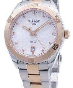 Tissot T-Classic PR100 T101.910.22.116.00 다이아몬드 악센트 T1019102211600 여성 시계