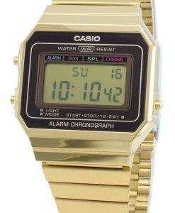 카시오 청소년 빈티지 A700WG-9A 알람 크로노 그래프 쿼츠 남자 시계