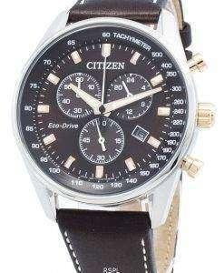 씨티즌 에코 드라이브 AT2396-19X 크로노 그래프 남성용 시계