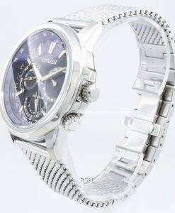 시민 Calendrier 에코 드라이브 BU2020-70E 크로노 그래프 월드 타임 남성용 시계