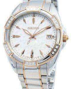 Seiko 개념 SKK878P SKK878P1 SKK878 다이아몬드 악센트 쿼츠 여성용 시계