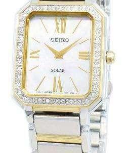 Seiko 개념 SUP428P SUP428P1 SUP428 다이아몬드 악센트 솔라 여성용 시계