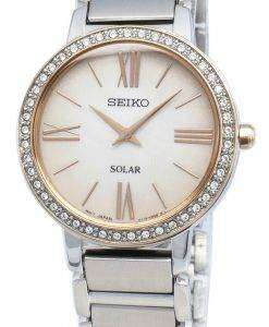 Seiko 개념 SUP432P SUP432P1 SUP432 다이아몬드 악센트 솔라 여성용 시계