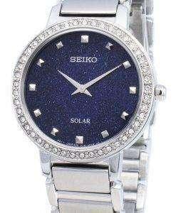 Seiko 개념 SUP433P SUP433P1 SUP433 다이아몬드 악센트 솔라 여성용 시계