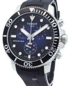 (티쏘) Seastar 1000 T120.417.17.041.00 T1204171704100 크로노 그래프 4 Jewels 쿼츠 300M 남성용 시계