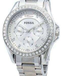 리퍼 비쉬 화석 라일리 ES3202 크로노 그래프 다이아몬드 악센트 여성용 시계