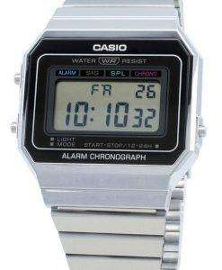 Casio Youth Digital A700W-1A A700W-1 알람 쿼츠 남성용 시계