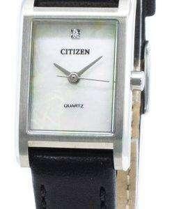 씨티즌 쿼츠 EJ6121-01D 다이아몬드 악센트 여성용 시계