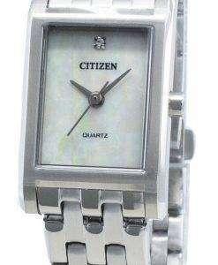 씨티즌 쿼츠 EJ6121-51D 다이아몬드 악센트 여성용 시계