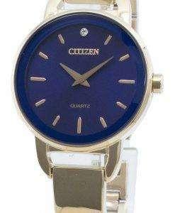 Citizen 시민 EZ6373-58L 쿼츠 다이아몬드 악센트 여성용 시계