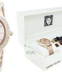 Anne Klein 3418RGST 다이아몬드 악센트 쿼츠 여성용 시계