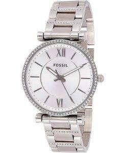 화석 Carlie ES4341 다이아몬드 악센트 쿼츠 여성용 시계