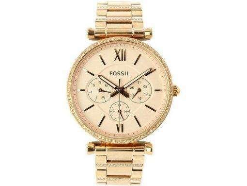 화석 Carlie ES4542 다이아몬드 악센트 쿼츠 여성용 시계