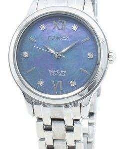 씨티즌 에코 드라이브 EM0720-85N 다이아몬드 악센트 여성용 시계