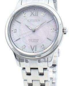 씨티즌 에코 드라이브 EM0720-85Y 다이아몬드 악센트 여성용 시계