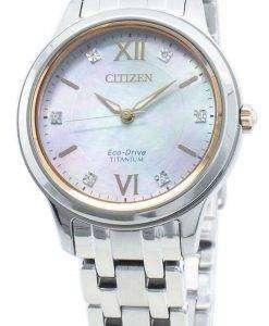 씨티즌 에코 드라이브 EM0726-89Y 다이아몬드 악센트 여성용 시계