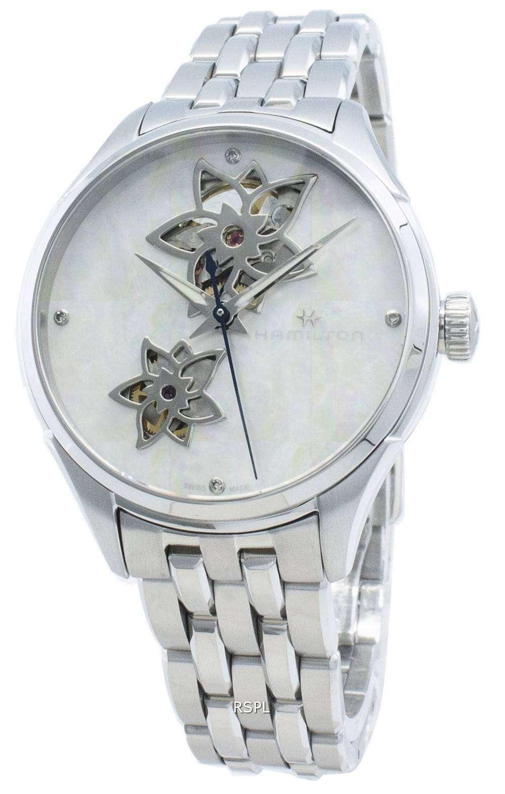 해밀턴 Jazzmaster H32115192 다이아몬드 악센트 자동 여성용 시계