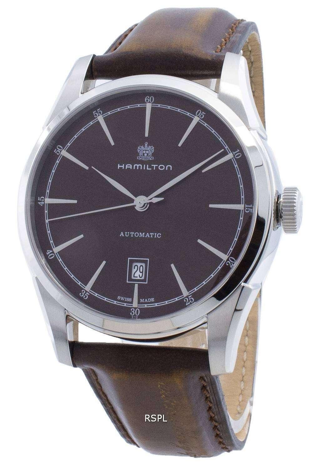 해밀턴 정신의 자유 H42415501 파워 리저브 오토매틱 남성용 시계