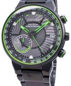Citizen Eco-Drive Satellite Wave GPS CC3075-80E World Time herreur