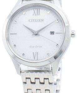 씨티즌 에코 드라이브 EW2530-87A 다이아몬드 악센트 여성용 시계