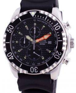 비율 200m 다이버 쿼츠 크로노 그래프 사파이어 48HA90-17 + CHR-BLK 남자 시계