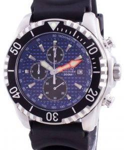 비율 200m 다이버 쿼츠 크로노 그래프 사파이어 48HA90-17 + CHR-BLU 남성용 시계