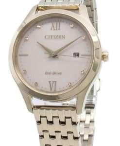 씨티즌 에코 드라이브 EW2533-89X 다이아몬드 액센트 여성용 시계