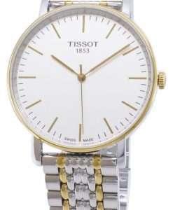 티쏘 T-Classic Everytime Medium T109.410.22.031.00 T1094102203100 쿼츠 아날로그 남자 시계