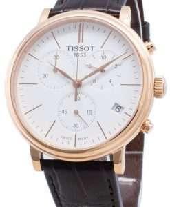 티쏘 Carson Premium T122.417.36.011.00 T1224173601100 크로노 그래프 쿼츠 남성용 시계