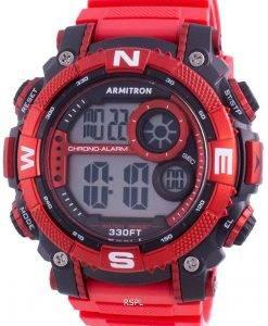 Armitron Sport 408284RDBK 쿼츠 컴퍼스 남성용 시계