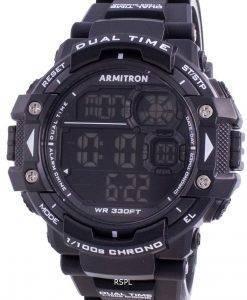 Armitron Sport 408309BLK 쿼츠 Dual Time 남자 시계