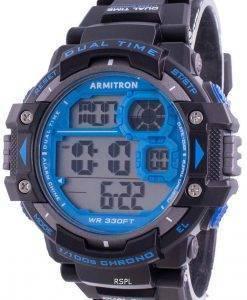 Armitron Sport 408309BLU 쿼츠 Dual Time 남자 시계