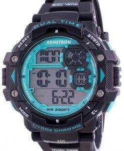 Armitron Sport 408309BTL 쿼츠 Dual Time 남자 시계
