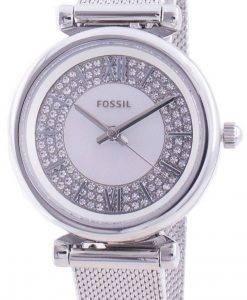 화석 Carlie Mini ES4837 쿼츠 다이아몬드 악센트 여성용 시계