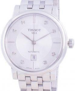 티쏘 T-Classic Carson T122.207.11.036.00 T1222071103600 오토매틱 다이아몬드 악센트 여성용 시계