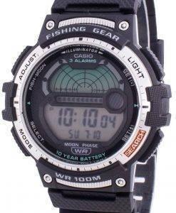 카시오 청소년 WS-1200H-1AV 쿼츠 문 페이즈 남성용 시계
