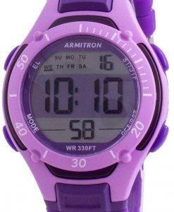 Armitron Sport 457062PUR 쿼츠 Dual Time 여성용 시계